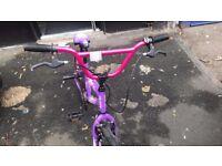 Girls BMX bike excellent condition