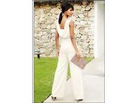 Elegantlight Cream pantsuit petite size 8