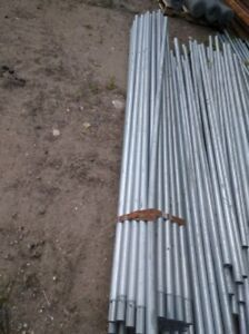 NEW GALVANIZED POSTS and TOP RAIL FENCE TUBING $14 each