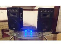 ekho sound speakers VX12 (400 watts) with ampliefier ekho 600 watts