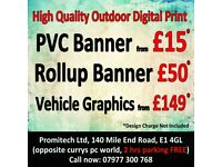 Out Door PVC Banner, Stand Banner, Digital print from £15/sqm