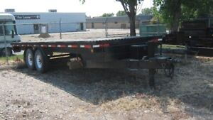 CUSTOM BUILT 20' FLAT DECK TRAILER