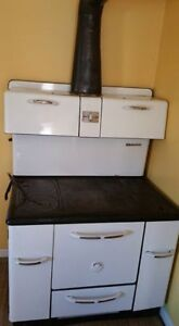 Vintage White Wood Stove---near Theodore, SK
