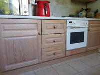 ** AVAILABLE EARLY SEPT**KITCHEN CUPBOARDS WITH LIME WASHED SOLID OAK DOORS AND APPLIANCES.**