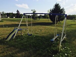 Children's Backyard Swing and Slide Set, Classic