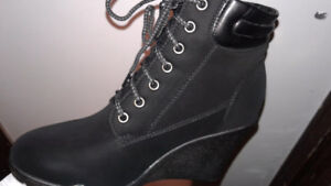 Black Wedge Shoes $30