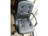 Small Office Faux leather Chair