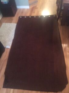 Brown Suede like Curtains - 3 different sets