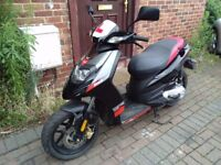 2013 Aprilia SR 50 MOTARD scooter, 2 stroke, racing exhaust, low miles, learner moped, not zip aerox