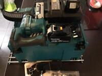 MAKITA 18v SCREWGUN NEW 2 batteries charger and box .