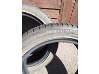 225/45/r17 91w BRIDGESTONE TURANZA tyres x2