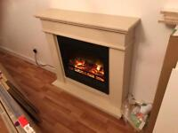 Electric remote controlled fire place