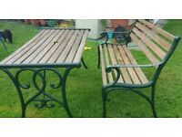 Garden bench(2) and table
