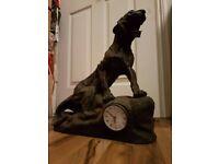 jaguar statue clock antique large cat ornament