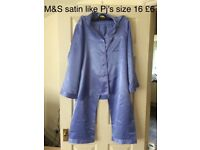 M&S satin like pj's size 16