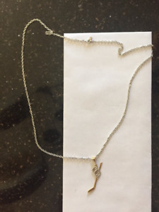 Real Gold Hockey Necklace