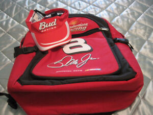 Dale Junior Budwiser Backpack Cooler and Hat