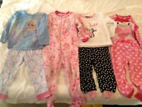 Girls 2-3 years sleepwear bundle