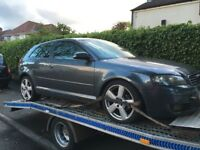 Audi A3 2004-2008 2.0 tdi bkd engine 6 speed gearbox breaking alloys headlights bumper wing airbags