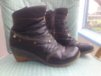Leather ankle boots (size 4, woman/ teenager) - El Naturalista