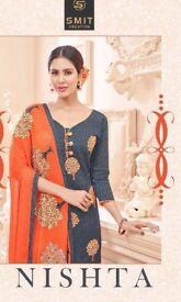 PRODUCT CODE: SMIT NISHTA WHOLESALE INDIAN ETHNIC DRESS MATERIAL