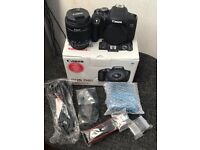 **MINT CONDITION** Canon EOS 750D 24.2MP Digital SLR Camera - Black (Kit w/ 18-55mm IS STM Lens)