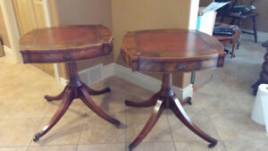 Antique matching mahogany side tables (Gibbard??)
