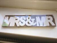 Mr & Mrs hanging decoration