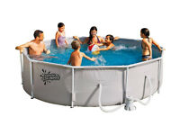 Brand New Boxed - 10ft Round Frame White Pool - 4,163 Litres (rrp - £159.99 from Argos)