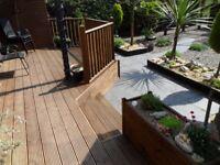 Decking, luxury gardens, design and build