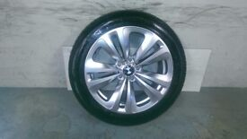 ALLOYS X 4 OF GENUINE BMW 18 INCH 6/SERIES/OR 7/SERIES/STYLE/234/FULLY POWDERCOATED IN SHADOW/CHROME
