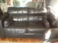Quality leather 2&3 seater sofas, in excellent condition, clean & comfortable.