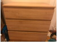 Chest of drawers from IKEA for sale, already built, RRP £20 selling for £5 ono *Pick Up Only*