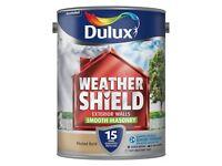 2 x Dulux Weathershield Smooth Masonry Paint 5L Muted Gold