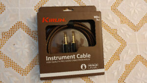 KIRLIN Instrument Cable 10ft 3m (Never Opened, Original Box)