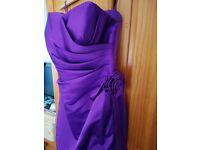 Cadbury's Purple Bridesmaids Dresses (x4)
