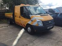 2012 Ford Transit double king cab drop side, no vat