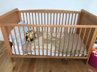 Large Oak Cot Bed