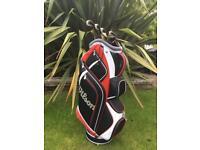 Golf Cart Bag and starter Irons & putter
