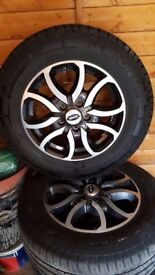 "Nearly New Set of 4 Alloy Wheels 16"" with Michelin Tyre's (previously on Peugeot Motorhome)"