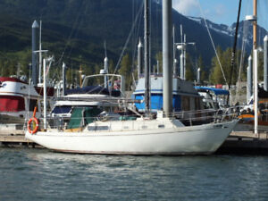 DOUGLAS 32 SAILBOAT (moored in Skagway)