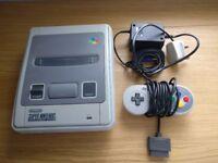 Super Nintendo Entertainment System White Console