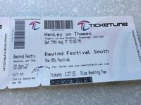 Rewind ticket for this Sat one child (Ours poorly)Ringwood travelling to Henley Friday