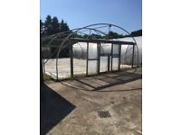 Four PollyTunnels For Sale Commercial GreenHouses Shed Garden Centre Plants Glass House LawnMower