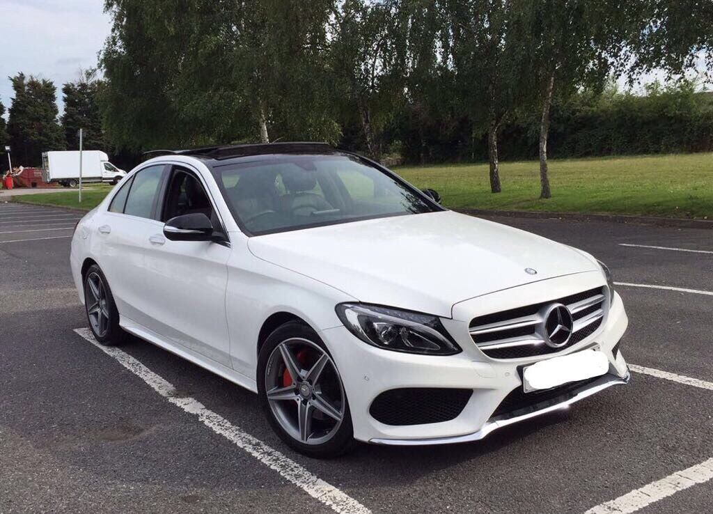 Mercedes benz c class amg line with premium pack 64 plate for Mercedes benz service plan
