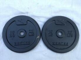 2 x 10kg Domyos Standard Cast Iron Weights