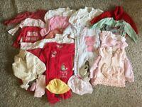Large baby girl clothing bundle 6-9M