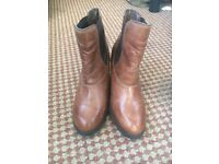 Red herring tan leather ankle boots UK size 5 £5
