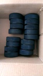 Set of 16 Hockey Pucks 6 oz
