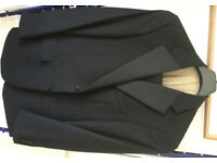 MARKS & SPENCER PURE NEW WOOL BLACK EVENING SUIT